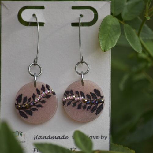 Rosy Crystal Earrings