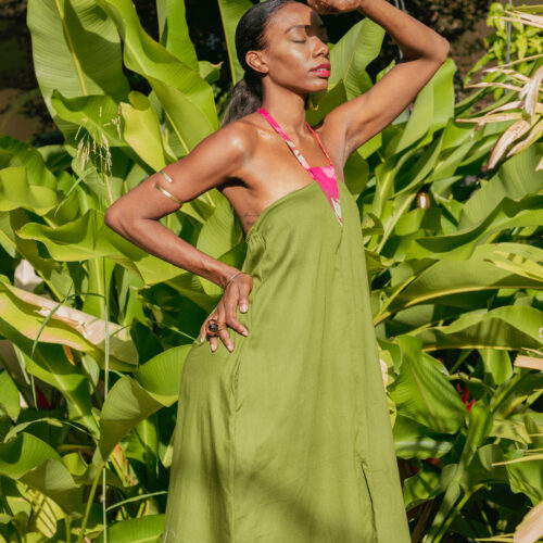 Batik Inset Dress