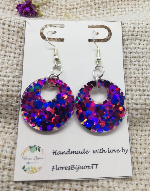 Purple Twinkling Earrings
