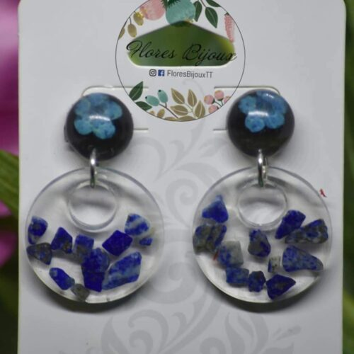 Blue Gemstone Garden Earrings