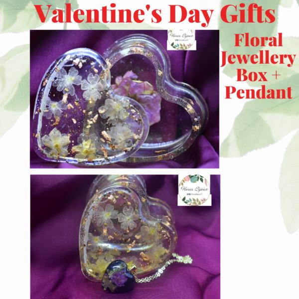 Valentine's Gift Set Jewellery Box and Pendant