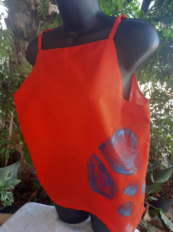 Trini Ladies Top (Handpaint) steel pan