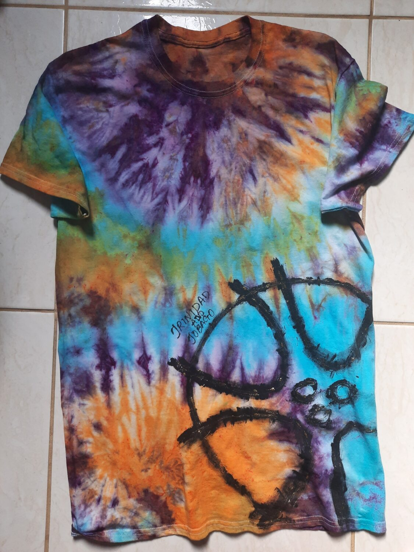 Dyed T-shirt (Handpaint) steel pan